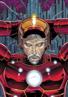 Old man Stark..! I bet he would have made so many cool versions of the Ironman suit by the time he got to this age wouldn't you..!