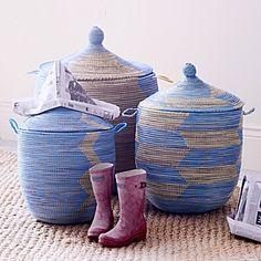 blue baskets w. lids