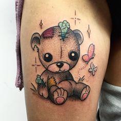 Bilderesultat for stuffed animal tattoo