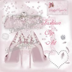 Elegant Wedding Clipart Heels Clipart Romantic by digitalpaperetc