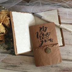 Handcrafted Wedding leather paper Vow books Bride and Groom set of 2 / infinity charm and braid / wedding vow books / wedding details / wedd Handmade Wedding Favours, Unique Wedding Cakes, Personalized Wedding Gifts, Best Wedding Vows, Wedding Signs, Wedding Decor, Card Box Wedding, Wedding Book, Vow Booklet