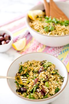 Millet broccoli Salad (could use barley or quinoa too)