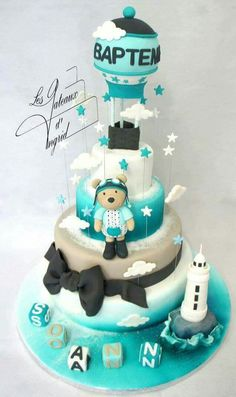 Cake Tower, Birthday Cake, Desserts, Food, Tailgate Desserts, Deserts, Birthday Cakes, Essen, Postres