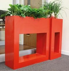 love this colour for breeze block planters x