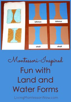 Whether you're teaching at home or school, you can add Montessori activities (including a Montessori-inspired end-of-unit treat) for a geography unit on land and water forms.