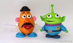 Toy Story characters Mr Potato Head and Alien