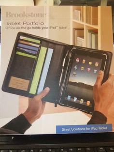 Brookstone Nappa leather Tablet Portfolio for iPad Tablets
