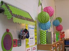 Be inspired by this Poppin Patterns themed classroom by 12 Days of Back to School winner Lisa D! Check out her cute awning she created. - Amazing Home Libraries Polka Dot Classroom, Owl Theme Classroom, Diy Classroom Decorations, 2nd Grade Classroom, Classroom Setting, School Decorations, Classroom Setup, Classroom Design, School Classroom