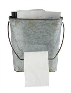 This Bucket Style is a quirky way to hold toilet paper or use it…