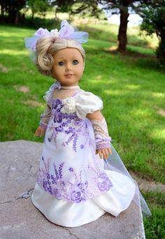 Regency Dress for AG  Caroline, via eBay by luminariadesigns via eBay, SOLD 7/18/14  $120.00