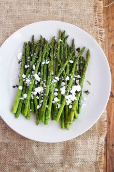 Jackie Cooks: Roasted Asparagus with Thyme and Feta