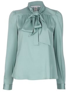 Discover the latest in women's fashion and men's clothing online. ASOS brings you the best fashion clothes online. Modest Fashion, Hijab Fashion, Fashion Dresses, Green Long Sleeve Shirt, Green Shirt, Green Blouse, Pleated Shirt, Tie Blouse, Womens Fashion For Work