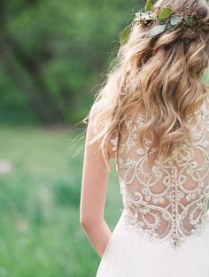 Gorgeous midsummer night's dream wedding inspiration, featuring a breathtaking beaded illusion back wedding dress, Phyllis by Maggie Sottero. Win A Wedding, Wedding Bells, Dream Wedding, Wedding Dress Trends, Bridal Wedding Dresses, Midsummer Nights Dream, Bridal Boutique, Wedding Hairstyles, Wedding Inspiration