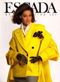 1991 Escada ads ss 1991 feat Elaine Irwin, Yasmeen Ghauri & Unknown
