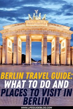 Berlin is one of the best travel destinations in Europe, with amazing attractions for any taste. From travel bloggers to romantic couples, everyone will find a favorite sight. And this guide is here to help you plan the best Berlin trip. #berlintravelguide #traveltoberlin #berlin Visit Germany, Berlin Germany, Romantic Destinations, Travel Destinations, Berlin Travel, Life Guide, Life Is An Adventure, Romantic Couples, Cool Places To Visit