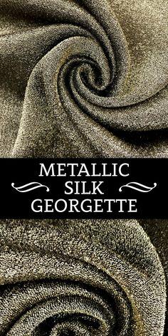 Metallic Silk Georgette in Light Gold - Women's style: Patterns of sustainability