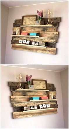 Now here we are going to show an idea to adorn the room, there is no need to arrange a space on the floor because it is to be attached to the wall; so no area is needed on the ground for the decoration. The wall decor shelf is easy to create and anything for decoration can be placed on it.