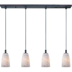 Maxim Lighting Carte 4-light Incandescent Bronze Finished Linear Pendant Light