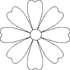 Vector image of a white daisy petals without stem and leaves. Color graphics of white margerita.Flower Daisy 8 petal template by A flower that could be a daisy or other simple 8 petal flower. It is made from a 8 petal symmetrical template. Wooden Flowers, Giant Paper Flowers, Fabric Flowers, Paper Butterflies, Flower Petal Template, Flower Tutorial, Butterfly Template, Daisy Petals, Flower Petals