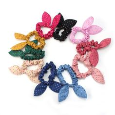 10pcs Rabbit Ears Hair bands Rubber band Hair Rope Headdress Hair ring Headwear Hair circle Hair tie Hair accessories(Randomly Color) * Be sure to check out this awesome product.
