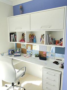 You won't mind getting work done with a home office like one of these. See these 20 inspiring photos for the best decorating and office design ideas for your home office, office furniture, home office ideas Decor, Home Office Decor, Room Design, Home, Bedroom Design, House Interior, Home Deco, Study Room Design, Office Design