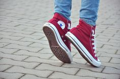 converse, shoes, and red image Jean Valjean, All Star, Lizzie Hearts, M Jack, Wally West, Young Avengers, Striders, Ginny Weasley, Come Undone