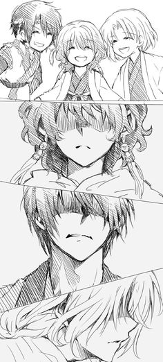 Hak, Yona & Soo-won - childhood friends betrayed (Akatsuki no Yona)