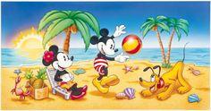 cartoon animals at the beach - Google Search