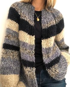 Ravelry: My spring cardigan pattern by Siv Kristin Olsen Source by cardigan Oversized Knit Cardigan, Knit Cardigan Pattern, Mohair Sweater, Knitting Patterns Free, Knit Patterns, Knitting Tutorials, Loom Knitting, Free Knitting, Stitch Patterns