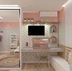 57 Cozy Teen Girl Bedroom Design Trends for 2019 Small Room Bedroom, Girls Bedroom, Bedroom Decor, Unique Teen Bedrooms, Bedroom Ideas For Small Rooms, Teen Bedroom Colors, Bedroom Rugs, Childrens Bedroom, Bedroom Lighting