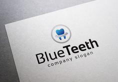Blue Teeth Logo by EmilGuseinov on Creative Market