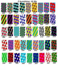 Résultat d'images pour Free Kumihimo Patterns 16 Thread Peyote Stitch Patterns, Seed Bead Patterns, Beaded Bracelet Patterns, Friendship Bracelet Patterns, Beading Patterns, Bracelet Fil, Beadwork Designs, Beaded Bracelets, Seed Beads