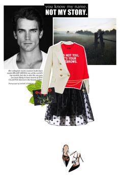 """[ Bradshaw ]"" by crilovesjapan on Polyvore featuring moda, Balmain, Chanel, STELLA McCARTNEY, vintage, women's clothing, women, female, woman e misses"