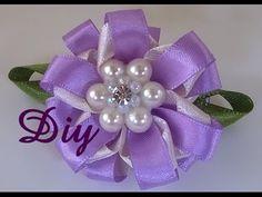 Faça você mesma:Tiara com flor de pérolas e flor de cetim - YouTube