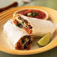 Double-Bean Burritos   MyRecipes.com