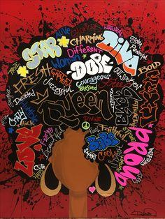 59 New Ideas Black Art Love Queens Paintings Black Love Art, Black Girl Art, Art Girl, Black Art Painting, Black Artwork, African American Art, African Art, Arte Black, Natural Hair Art