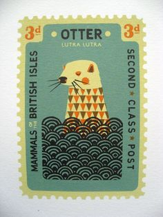 Otter Stamp - if only this came as a t-shirt