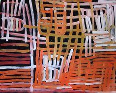 Barbara Weir   Minnie Pwerle - Grass Seeds  acrylic on linen  180 x 121cm