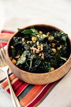 Recipe: Chopped Kale, Farro & Chickpea Salad