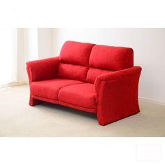 メルカリ商品: 開店セール中!!ポケットコイル採用の2人掛けハイバックソファ RED #メルカリ