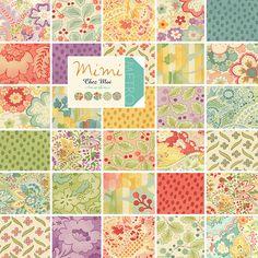 Moda MIMI Precut 5 Fabric Cotton Quilting