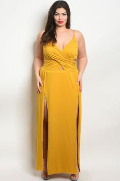 0689d52e8a0f Z-B-MD8008X MUSTARD PLUS SIZE DRESS 2-2-2. Plus Size DressesMustardMustard  ...