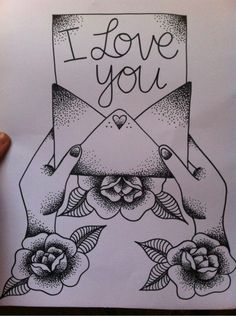 Find images and videos about love, art and black and white on We Heart It - the app to get lost in what you love. Cute Couple Drawings, Cool Art Drawings, Pencil Art Drawings, Art Drawings Sketches, Easy Drawings, Tattoo Drawings, Tattoo Ink, Sketch Art, Drawings For Boyfriend