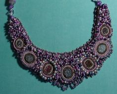Beaded Embroidery Necklace Aurora by justbrez on Etsy, $179.00