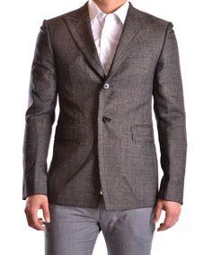 BIKKEMBERGS Bikkembergs Men'S Mcbi042050O Grey Wool Blazer'. #bikkembergs #cloth #coats & jackets
