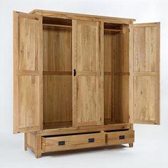 Westbury Reclaimed Oak Triple Wardrobe - - Wardrobe - Ametis - Space & Shape - 2
