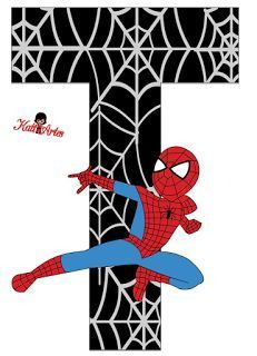 Alfabeto de Spiderman con Fondo Negro. Spiderman Theme, Black Spiderman, Superhero Birthday Party, 3rd Birthday, Party Props, Party Themes, Hulk Party, Girl Themes, Letters And Numbers