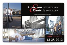 Generoso & Danielle's Sketched In Love Save the Date Magnet