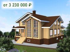 Проекты загородных домов коттеджей и бань – ПСК Экострой Shed, Outdoor Structures, Cabin, Mansions, House Styles, Home Decor, Lean To Shed, Cabins, Luxury Houses