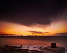 Oresundbridge sunset